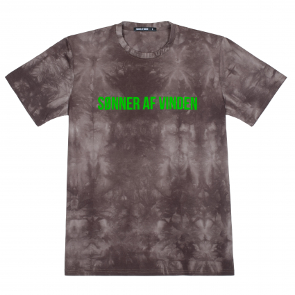 Футболка Bar Logo Salad Acid Wash Brown 1